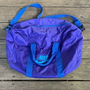 Bright Blue Vintage 90's Nike Duffle Bag! AWESOME!